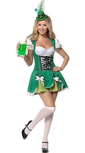 Top Totty Geluk van de Ierse Gal Bier Kostuum, XL, Multi kleuren