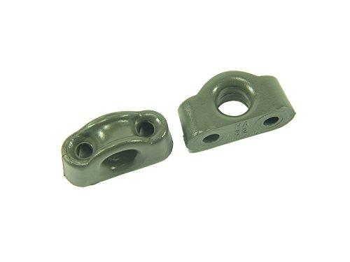 Nylon-Leitöse anthrazit max. 7mm  (2er-SB-Pack)