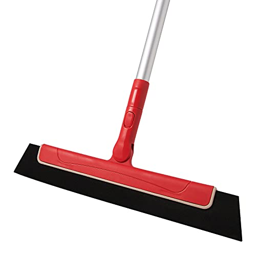 """CLEANHOME Mini Floor Squeegee Broom with 51"""" Long Handle, Great to Remove Water for Glass, Window, Tile Floor, Household Squeegee for Bathroom, Kitchen, Pool Deck Cleaning"""