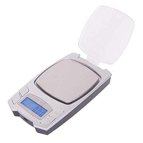 Micro joyería recargable Báscula electrónica 0.01g Peso exacto en gramo Medicina de bolsillo portátil Báscula de té Escala pequeña de alta precisión 200g / 0.01g