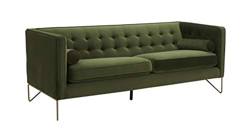 Amazon Brand  Rivet Brooke Contemporary Mid-Century Modern Tufted Velvet Sofa Couch, 82