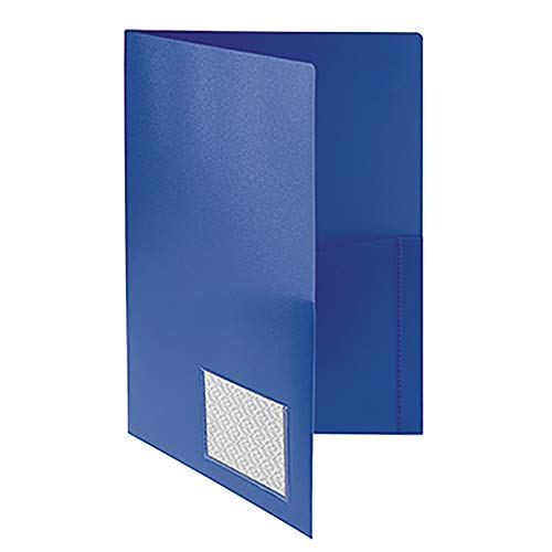 Broschüren-Mappe PP A4, Standard, r&e Taschen, blau