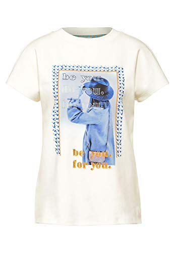 Street One 315956 T-Shirt, Bianco Sporco, 44 Donna