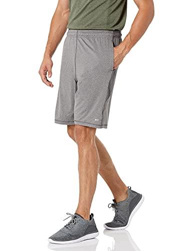 Amazon Essentials Tech Stretch Training athletic-shorts, Charcoal Grey Heather, US M (EU M)