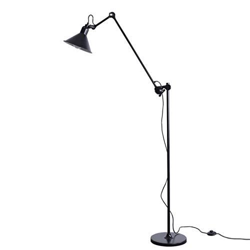 lámpara de pie luz de suelo Estudio de la Lámpara de Trabajo Sencilla Rocker Vertical Lámpara Living Estudio de Lectura Luz de Piso Lámparas de pie Lámparas de poste alto (Color : Black)