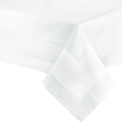 ZOLLNER Mantel Blanco Cuadrado de algodón 210x210 cm, Otras Medidas, con Orla