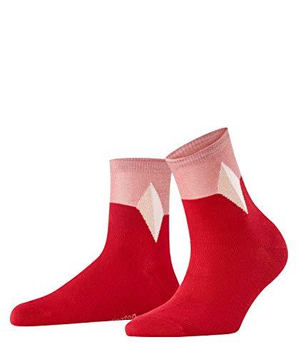 Burlington Damen Split Diamond W SSO Socken, rot (Cherry red 8518), Einheitsgröße (DE 36-41)