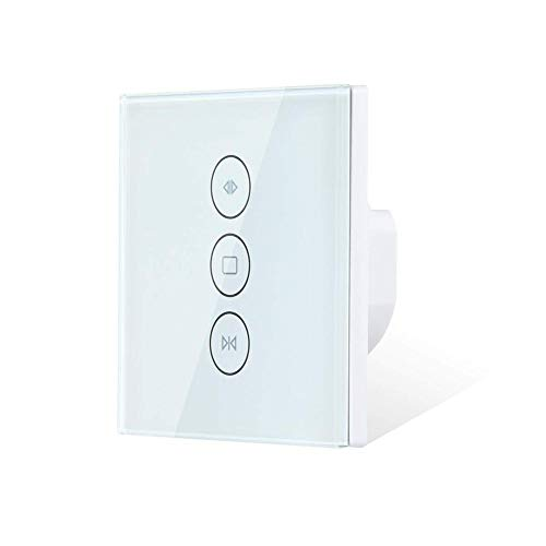 HOOGAO Interruptor WiFi Cortina Smart Switch WiFi Obturador persianas Interruptor de Voz WiFi Smart Control Cortina