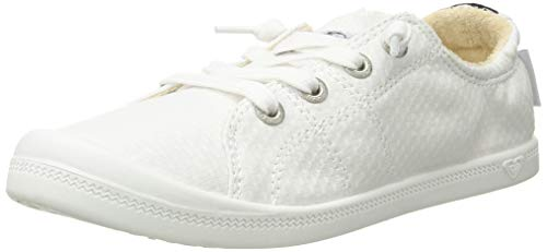 Roxy Women's Bayshore Slip on Shoe Sneaker, White, 9