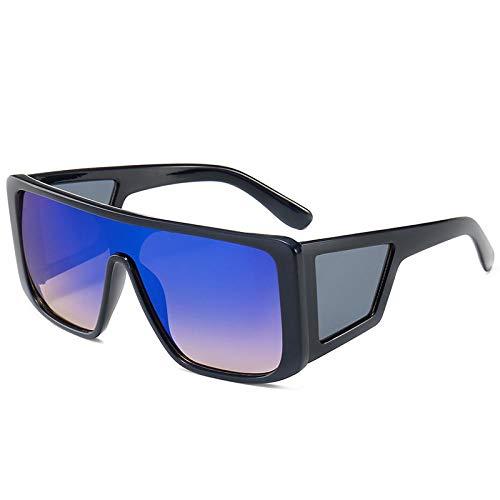 Moda Gafas De Sol Gafas De Sol Estilo Escudo Cuadrado Mujeres Hombres Lente Lateral FrescaGafas De Sol 7