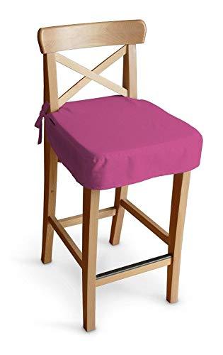 Dekoria Sitzkissen für Barhocker Ingolf Stuhlbezug Stuhlkissen passend für IKEA Modell Ingolf rosa