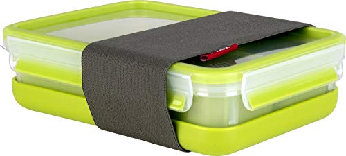 Tefal K3100212 - Masterseal to go - Boîte Déjeuner Rectangle à Compartiments avec Assiette - 1.2 L - Vert