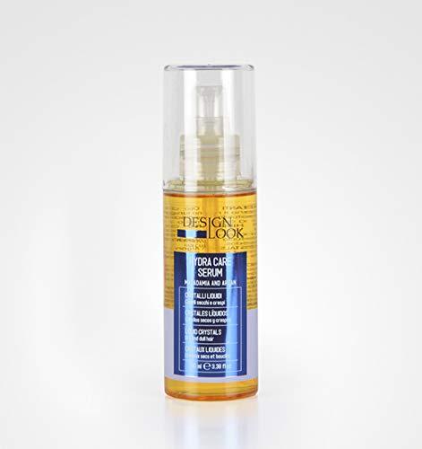 Design Look Serum Cristal Líquido Hidratante 100 mL Hydra Care - Cabellos secos y crespos   Aceite Macadamia y Argán