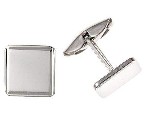 Uni carré Boutons de manchette – Argent Sterling 925 – Livré dans une boîte cadeau gratuit ou sac cadeau
