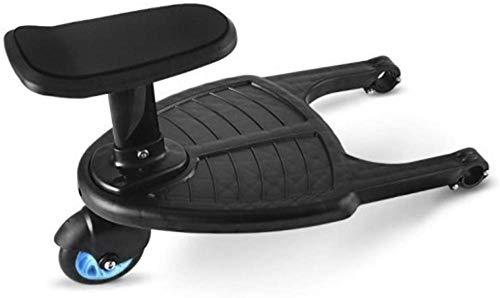 PANXIA Baby Jogger Glider Board Cochecito Pedal Auxiliar Segundo Niño Artefacto Remolque Gemelos Carro De Bebé Dos Niños Placa De Pie,Blue