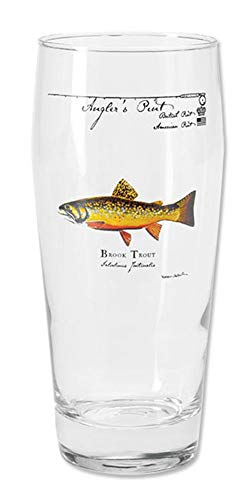 Orvis Angler's Pint Glass/Only Angler's Pint Glass, Each, Brook Trout