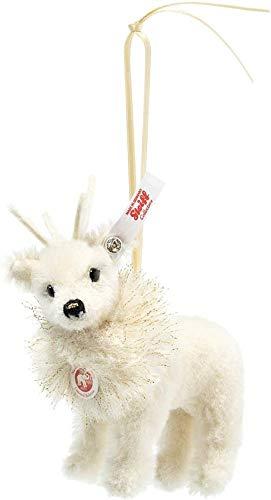Steiff Ornament Winter Rentier weiß 12 cm Alpaca limitiert