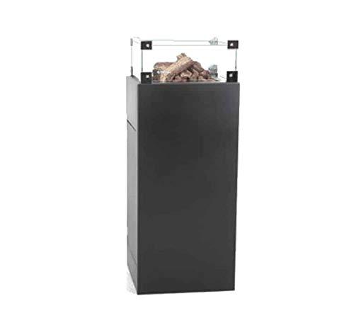 Easyfires Excellent vuurschuurmachine op gas | haard, gasvuurplaats, terraskachel | vierkant | 45 x 45 x 90 cm