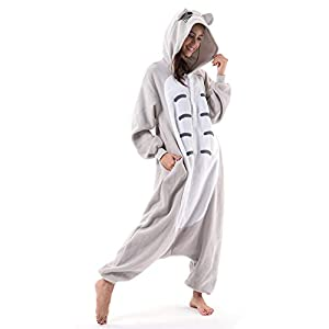 Beauty Shine Unisex Adult Animal Totoro Costume Halloween Onesies Plush Pajamas