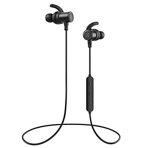 SoundPEATS Bluetooth Earphones, Wireless 5.0 Magnetic Earphones, in-Ear IPX6 Sweatproof Earbuds with Mic (Superior Sound with 10mm Drivers Drivers, APTX-HD, 13 Hours Working Time, Secure Fit Design)
