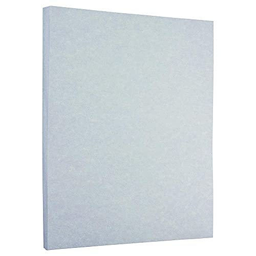 JAM PAPER Parchment 24lb Paper - 90 gsm - 8.5 x 11 - Blue Recycled - 100 Sheets/Pack