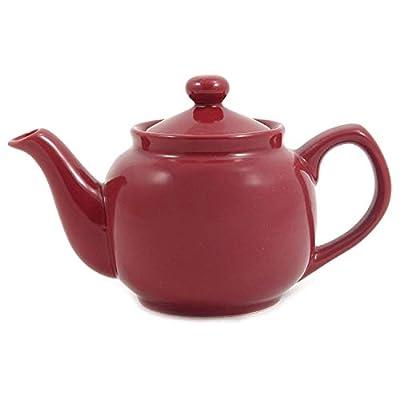 Burgundy Classic 2 Cup Ceramic Teapot