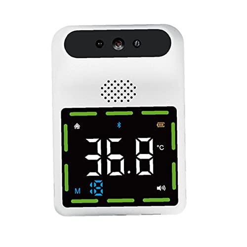 Termómetro Fiebre Alarma Termómetro infrarrojo Montado en la pared Sin contacto Digital Frente Temperatura Fiebre Fiebre Bluetooth Alarma 11 Languages