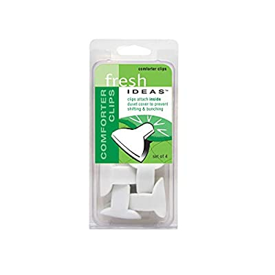 Comforter Clips Fresh Ideas Padded Clips – Blanket Fasteners Prevents Comforters from Shifting Inside Duvet Cover Bedding Accessories, 4-Pack by Comforter Clips