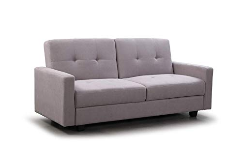 Honeypot - Jerry - 2 Seater - Sofa Bed - Large Storage - Convertible Furniture for Living Room - Fabric - Grey