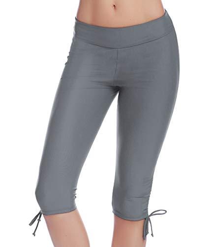 iClosam dames zwemshorts lange badpak boardshorts zwemshorts leggings knielange 3/4-poten