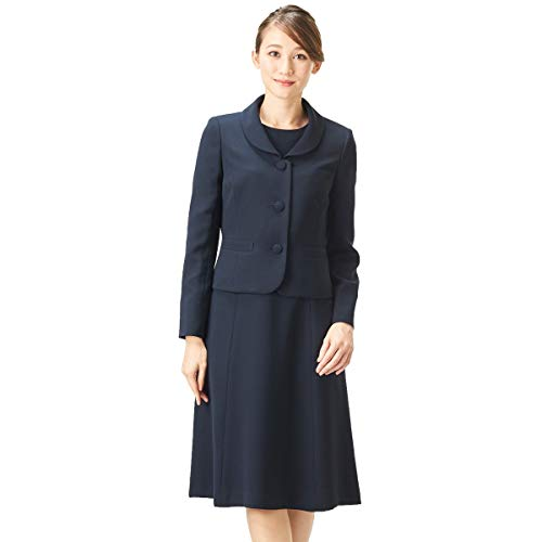 BLACK GALLERY お受験スーツ アンサンブル ママ 濃紺スーツ ジャケット 夏 レディース ネイビー 9号