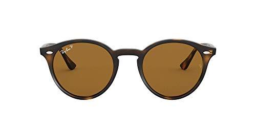 Ray-Ban Unisex RB2180 Sonnenbrille, (Gestell: Havana, Gläser: braun polarisiert 710/83), Medium (Herstellergröße: 49)