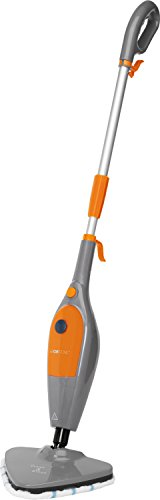 Clatronic DR 3539 263621 Mopa, 25g Vapor/min,Cable 5 Metros, 1500 W, 300 milliliters, 18/8 Stainless Steel, Gris/Naranja