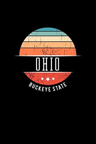 Ohio Buckeye State: Ohio State USA Souvenir Blank Notebook Journal