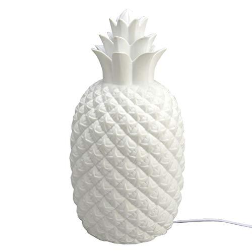 Lampe Ananas en porcelaine, hauteur 18 cm, Amadeus
