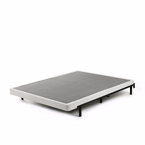Zinus 4 Inch Low Profile BiFold Box Spring/Folding Mattress Foundation/Strong Steel structure/No assembly required, Split King