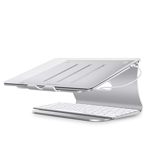 YBYB Laptop Stand Laptop Stand,Aluminium Laptop Riser Stand For Apple MacBook Pro/Air, Dell, Lenovo, HP, Fujitsu And All 11' To 17' Laptops Notebook Stand (Color : Silver)