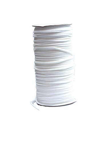Gummischnur, Stretchband, elastischer Faden, rund 3mm, Rolle ca. 100m weiß sofort versandfertig Handarbeit nähen selber machen