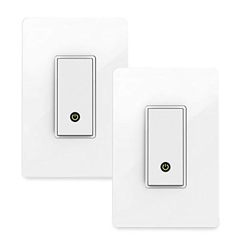 Wemo Light Switch 2-Pack, WiFi Enabled, Compatible with Alexa and Google Assistant (Renewed)