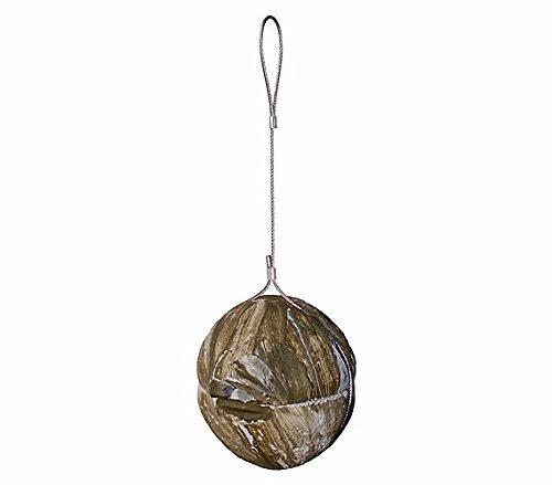 Dehner Natura nestbal voor hekkoningen, diameter 18,5 cm, houtbeton, bruin
