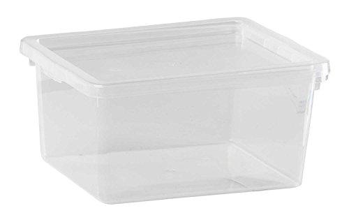 Kunststoffbox Aufbewahrungsbox Stapelbox | Kunststoff | transparent | stapelbar | 2 Liter