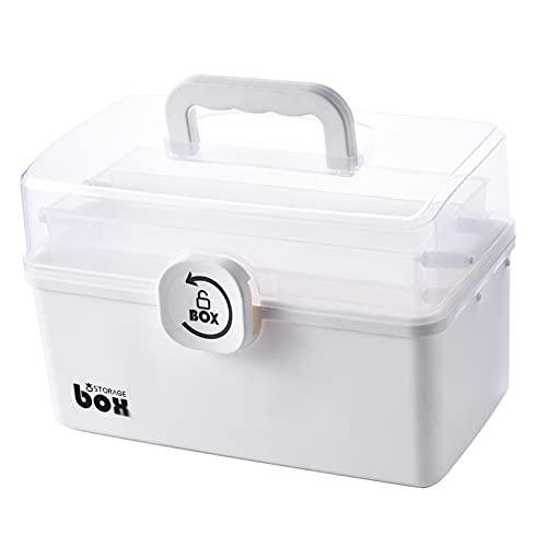 NC Caja de Almacenamiento de Plástico Organizador de Contenedores con Cerradura Caja de Primeros Auxilios Estuche Manejado