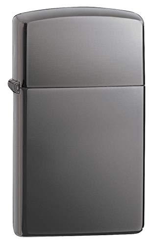 Zippo Feuerzeug 60001182 Slim Black Ice Benzinfeuerzeug, Messing, 1 x 3,5 x 5,5 cm