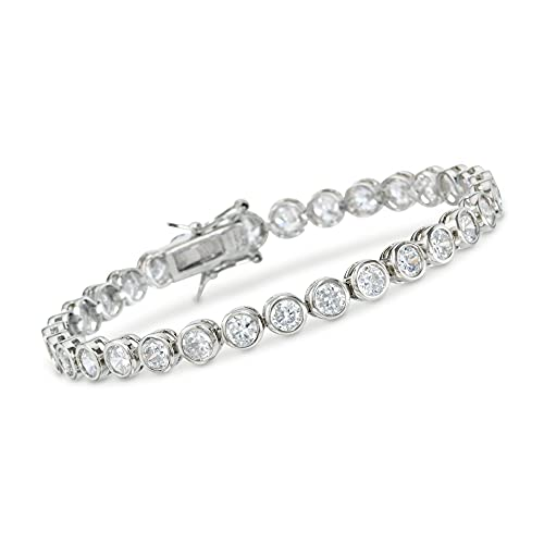 Ross-Simons 13.50 ct. t.w. CZ Tennis Bracelet in Sterling Silver. 7 inches