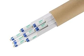 LightWise LWF54T5HO865 8pack 4 FT 6500K T5 HO Fluorescent Grow Light Bulbs  8 6500k - Blue - Veg