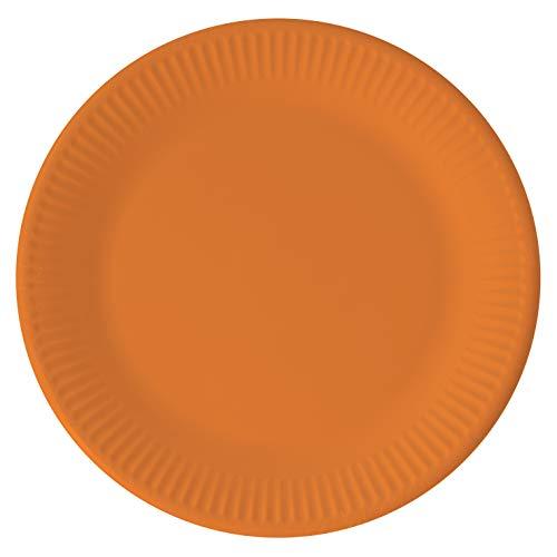 Procos 10067737 Plates Paper Compostable Orange