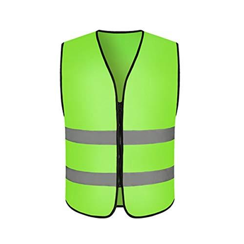 Xyhcs Chaleco Reflectante, Chaleco de Ciclismo, Ropa de Seguridad de construcción (Color : Green)