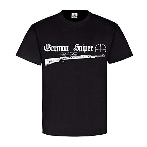 German Sniper 98k Typ 1a Karabiner Gewehr Scharfschütze Sport T Shirt #18560, Größe:S, Farbe:Schwarz