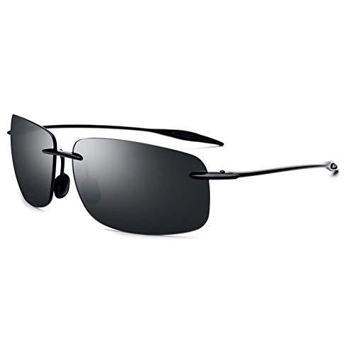 TYXL Sunglasses Gafas De Sol Ultraligeras for El Conductor Sin Bordes Espejo De Conducción TR90 Gafas De Sol Cuadradas for Mujer con Protección UV400 (Color : Gray)