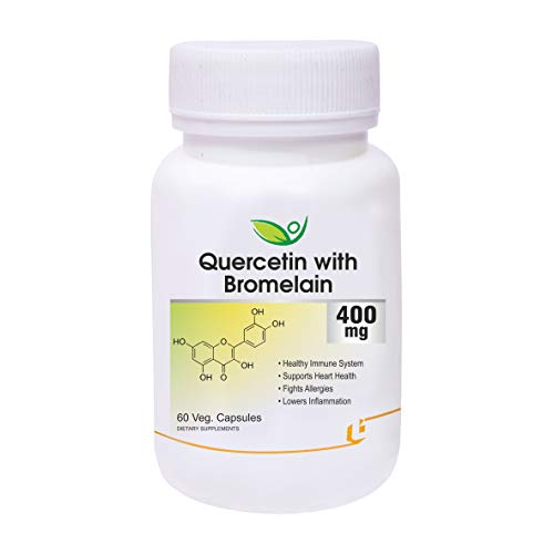 Biotrex Nutraceuticals Quercetin with Bromelain 400mg - 60 Veg. Capsules, Quercetin with Bromelain Dietary Supplement for Healthy Immune System